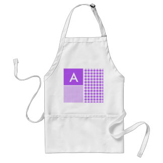 Purple Checkered Gingham Adult Apron