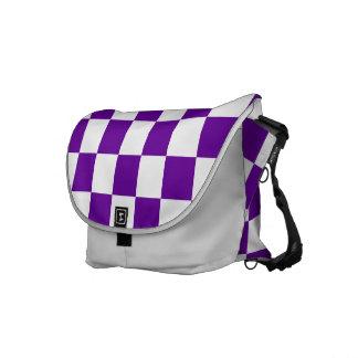 Purple Checks Messenger Bag