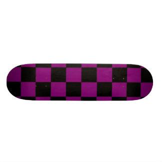 Purple Checks Skateboard Deck
