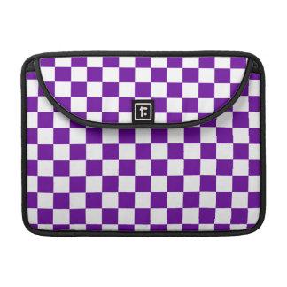 Purple Checks Sleeve For MacBook Pro