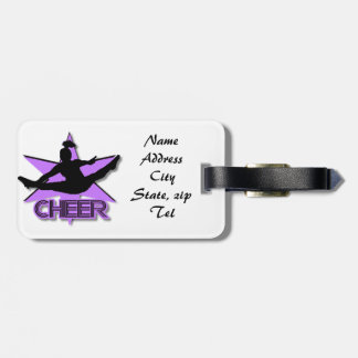 Purple Cheer luggage tag