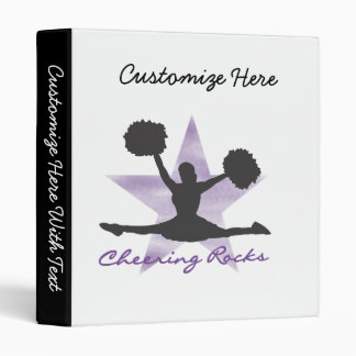 Purple Cheering Rocks T-shirts and Gifts Binders
