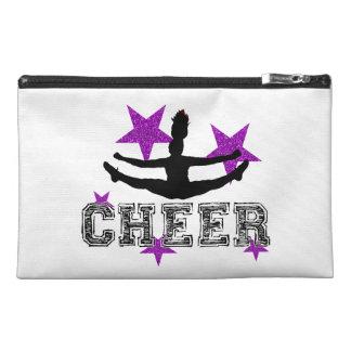 Purple cheerleader travel accessories bag