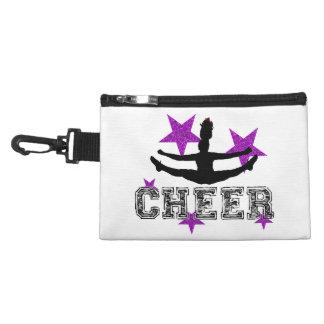 Purple cheerleader accessories bags