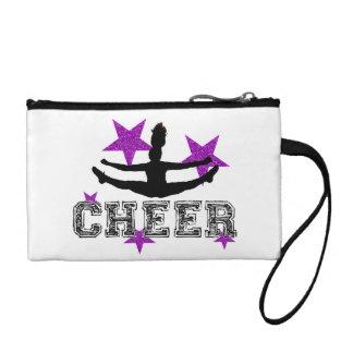 Purple cheerleader coin purse