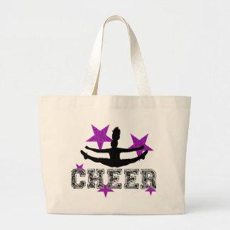 Purple cheerleader bags