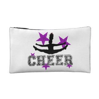 Purple cheerleader makeup bag