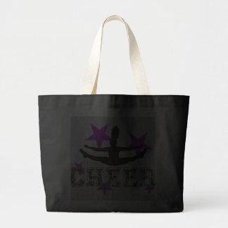 Purple cheerleader tote bags