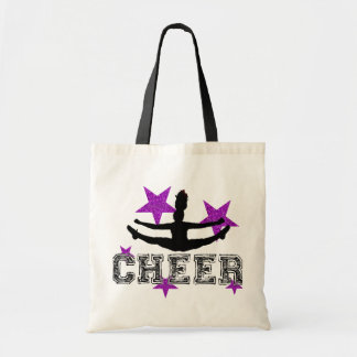 Purple cheerleader canvas bags