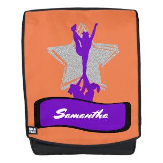 Purple Cheerleader boldface backpack