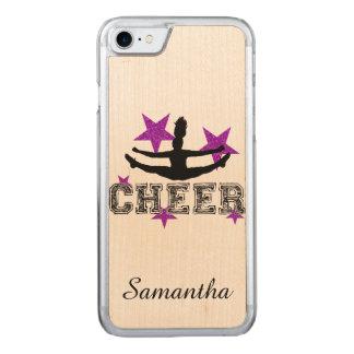 Purple Cheerleader Carved iPhone 8/7 Case