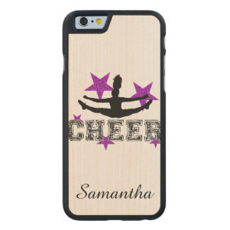 Purple Cheerleader Carved Maple iPhone 6 Case
