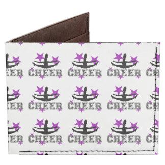 Purple cheerleader billfold wallet
