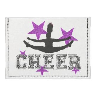 Purple cheerleader tyvek® card case wallet