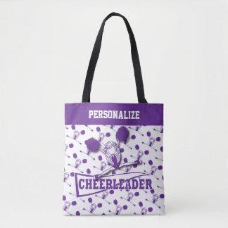 Purple Cheerleader Girl Tote Bag