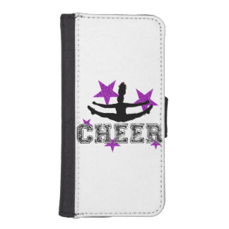 Purple cheerleader iPhone SE/5/5s wallet case