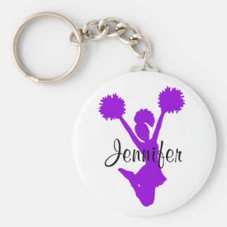 Purple Cheerleader Key Chain