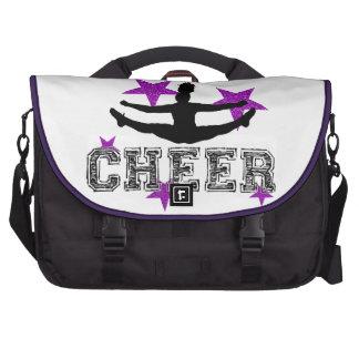 Purple cheerleader laptop computer bag