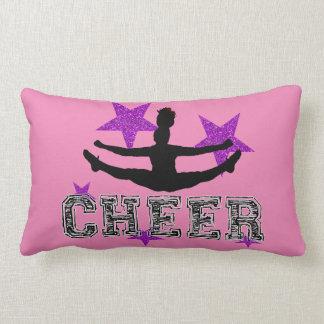 Purple Cheerleader Lumbar Pillow