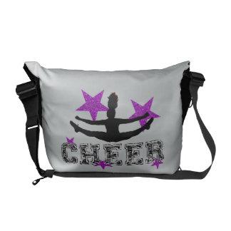Purple cheerleader courier bags