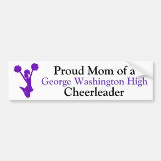 Purple Cheerleader Mom Bumper Sticker