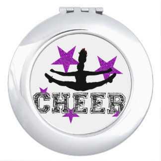 Purple cheerleader makeup mirror