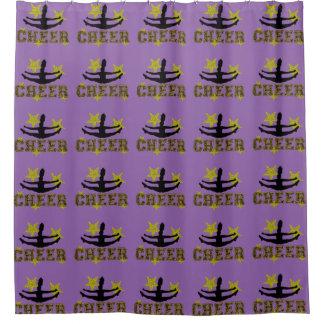 Purple Cheerleader shower curtain