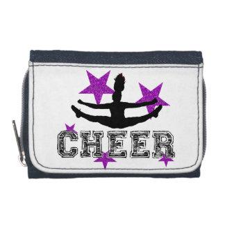 Purple cheerleader wallets