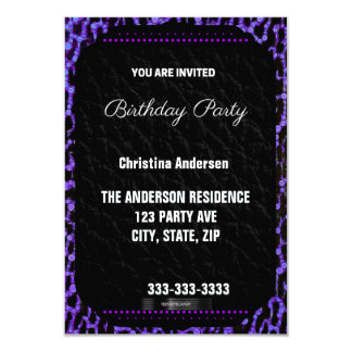 Purple Cheetah Birthday Card