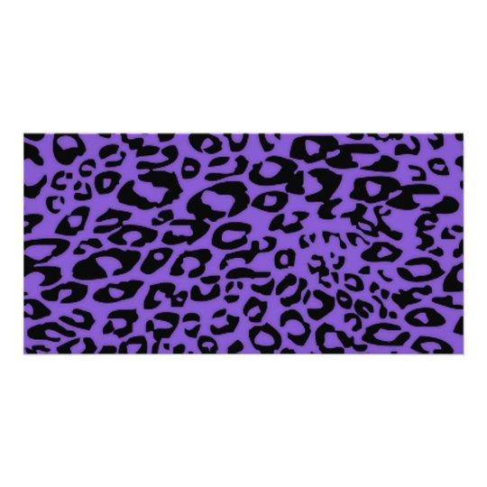 purple cheetah card