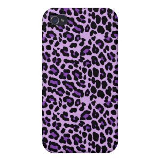Purple Cheetah iPhone Case Covers For iPhone 4