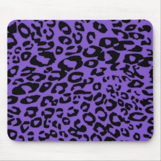 purple cheetah mouse pad