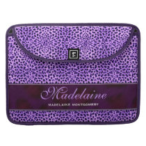 Purple Cheetah Wild Animal Print Sleeve For MacBooks