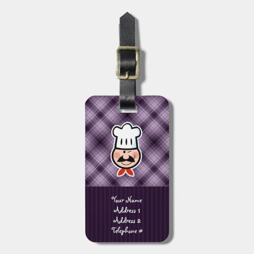 Purple Chef Bag Tags