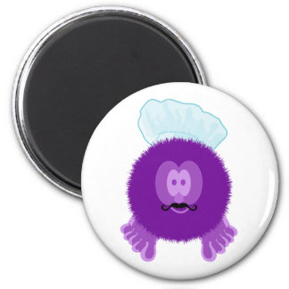Purple Chef Pom Pom Pal Magnet