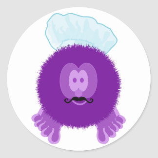 Purple Chef Pom Pom Pal Stickers