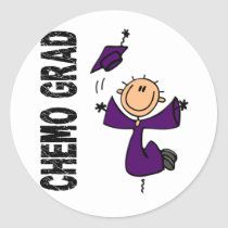 Purple CHEMO GRAD 1 (Pancreatic Cancer) Classic Round Sticker
