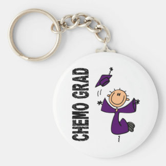 Purple CHEMO GRAD 1 (Pancreatic Cancer) Keychain
