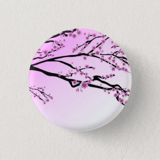 Purple Cherry Blooms Button