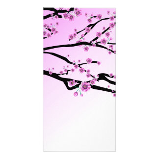 Purple Cherry Blooms Card