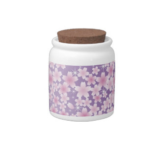 Purple Cherry Blossom Candy Jar