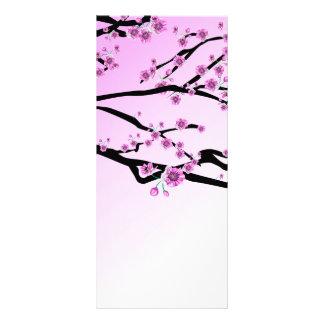 Purple Cherry Blossom Sakura Rack Card
