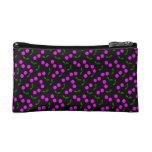 Purple Cherry cosmetic bag