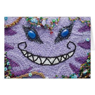 Purple Cheshire Cat Note Card