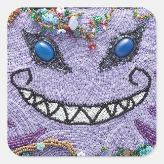 Purple Cheshire Cat Stickers