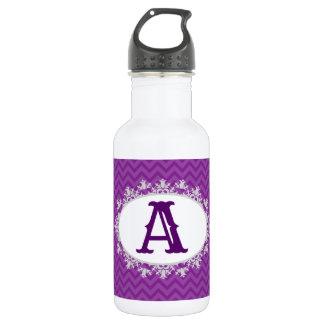 Purple Chevron 18oz Water Bottle