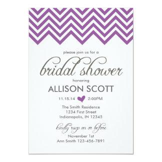 Purple Chevron Bridal Shower Invitation