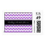 Purple Chevron Bridal Shower Wedding Stamps