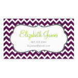 Purple Chevron Double-Sided Standard Business Cards (Pack Of 100)