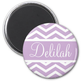 Purple Chevron Custom Name Magnet